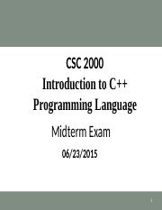 CSC 2000 Midterm Review (Spring Summer 2015).ppt