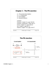 3.1 PN Junction Electrostatics