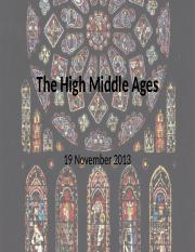 03 The High Middle Ages