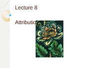 Lecture 8: Attribution