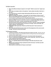 Self Reliance & Civil Disobedience Discussion Questions.docx