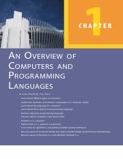 Chapter 1 An Overview of Computer & Programming Language