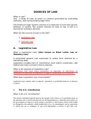 Sources of Law & Legal System Week 1.docx