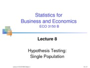 Lecture 8 Hypothesis Testing (2013)