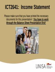 Podcast income statement presentation.ppt