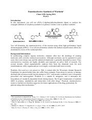 E - Warfarin Synthesis - Week 1.pdf