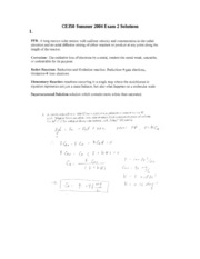 CE350 Summer 2004 Exam 2 Solutions