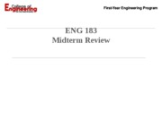 ENG 183 Midterm Review - SP 2011