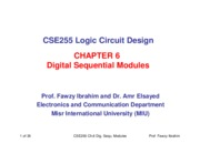 CSE255 Logic Chapter_6_Digital Sequential Modules