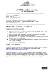 ACC414 - Course Outline - Fall 2013 - S031