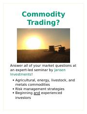 Learn to trade futures options courses