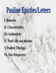 Lecture 2-3-Pauline Letters.ppt
