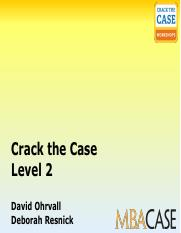 Crack The Case David Ohrvall Pdf