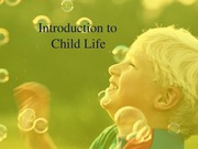 Introduction to Child Life