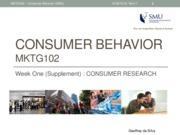 CB(MKTG102) - Consumer Research