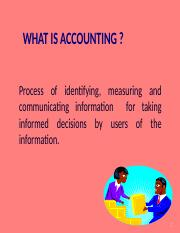 Accounting and Costs