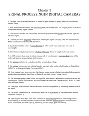 Chapter 3 - Signal Processing in Digital Cameras