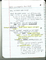 HY 318 Civil Rights Notes