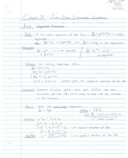 Notes on First Order Differential Equations