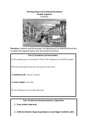 The Beginning of the Industrial Revolution Organizer (1).docx