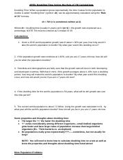 Population Problem Set Population Calculation Worksheet Here Are