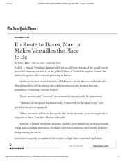 En Route to Davos, Macron Makes Versailles the Place to Be - The New York Times.pdf