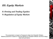 CHAPTER 8-9 - Equities Markets