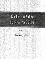 Kinetics of a Particle - Force and Acceleration.pptx