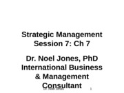 Session 7. Ch 7 Strategic Management