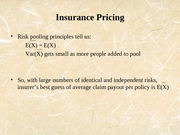 Lecture 19 - Insurance Pricing Apr 9