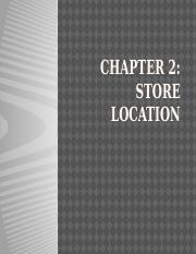 Chapter 2- Retail Location