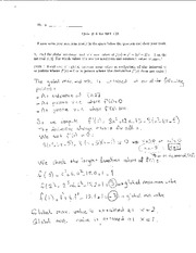 Quiz 6 Solution on Elementary Calculus