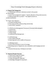 Chap 2 Knowledge Points Managing Project in Business.pdf