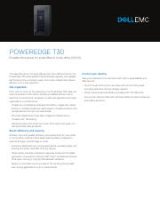 Supported configurations for the Dell PowerEdge T30 system Supported