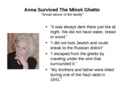 Anna Survived The Minsk Ghetto