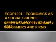 Lecture 13 [Neoclassical economics _Consumers and firms]