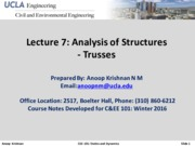 CEE101-Lecture 7-Trusses And Frames