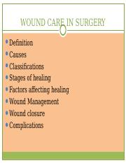 WOUND CARE IN SURGERY.ppt