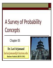 Chp 5 PP Probability Concepts