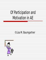 Week 2 PPT - Chapter 3 Of_Participation_and_Motivation.ppt