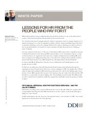 Lessons for HR from the People Who Pay for It WP DDI.pdf