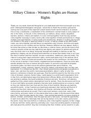 Hillary Clinton - Women's Rights are Human Rights.docx