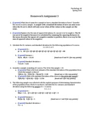 Homework 03 - Answers and Points