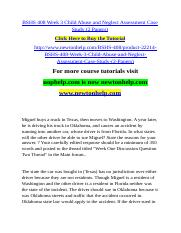 BSHS 408 Week 3 Child Abuse and Neglect Assessment Case Study (2 Papers).doc