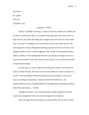 Essay with Sources