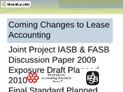 Coming Changes to Lease Accounting F09