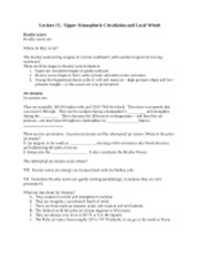 Lecture 11 Outline Notes