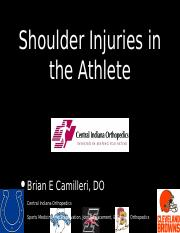 BEC Shoulder Pain In The Athlete.pptx