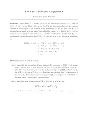 STATS 353 HOMEWORK 9 SOLUTIONS