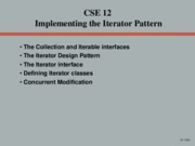 07 Implementing the Iterator Pattern